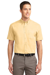 Port Authority Yellow S508 custom work shirts