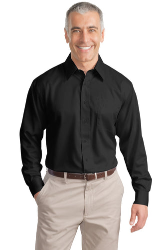 Port Authority Black S638 embroidered work shirts