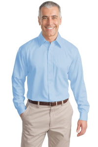 Port Authority Sky Blue S638 embroidered work shirts