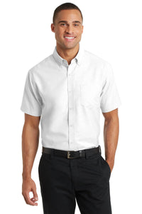 Port Authority White S659 custom work shirts