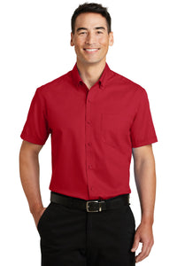 Port Authority Rich Red S664 logo shirts