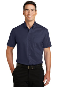 Port Authority True Navy S664 logo shirts