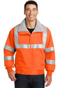 port authority safety orange/ reflective srj754 team jackets embroidered