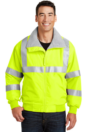 port authority safety yellow/ reflective srj754 team jackets embroidered