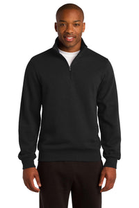 Sport-Tek Black TST253 business sweatshirts with logo