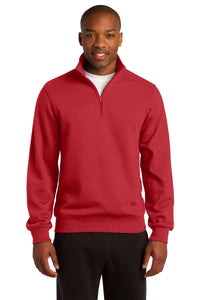 Sport-Tek True Red ST253 custom sweatshirts with logo