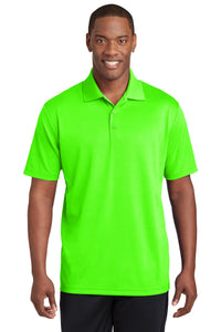 Sport-Tek Neon Green ST640 custom polos with logo