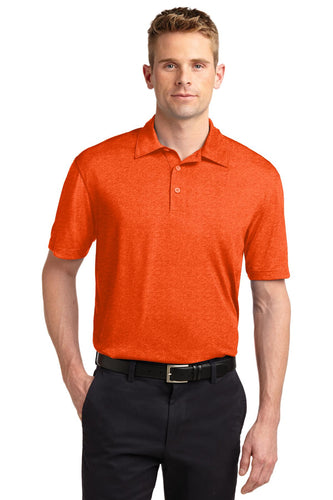Sport-Tek Deep Orange Heather ST660  polo work shirts with company logo