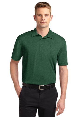 Sport-Tek Forest Green Heather ST660  polo work shirts with company logo