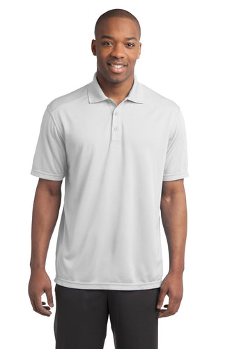Sport-Tek White ST680 custom made work polo shirts
