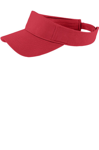 sport tek posicharge racermesh visor true red