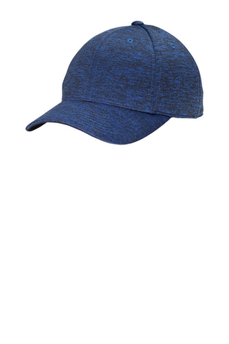 sport tek posicharge electric heather cap dark royal black electric