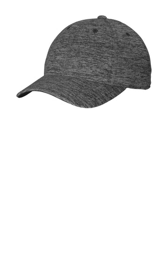 sport tek posicharge electric heather cap grey black electric