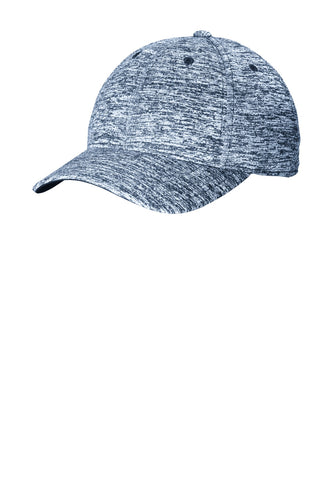 sport tek posicharge electric heather cap true navy electric
