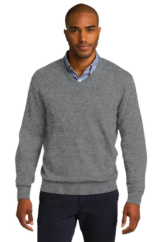 port authority medium heather grey sw285 custom business sweatshirts