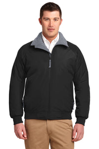 port authority true black/ grey tlj754 promotional jackets company logo