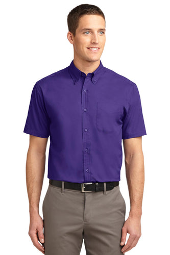 Port Authority Purple/ Light Stone TLS508 company logo shirts
