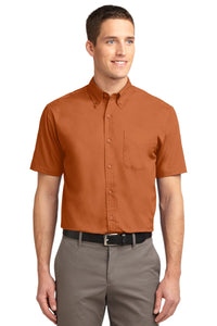 Port Authority Texas Orange/ Light Stone TLS508 custom work shirts