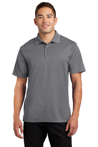 Sport-Tek Grey Concrete TST650 business polo shirts embroidered