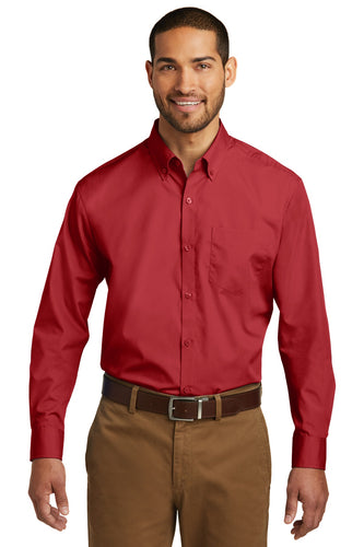 Port Authority Rich Red W100 logo shirts