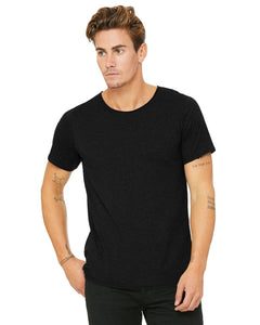 bella + canvas jersey raw neck t-shirt b3014 black