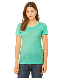 bella + canvas ladies triblend short sleeve t-shirt b8413 mint triblend