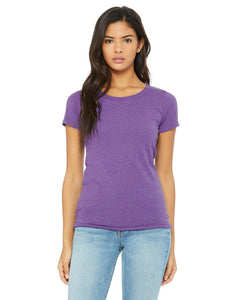 bella + canvas ladies triblend short sleeve t-shirt b8413 purple triblend