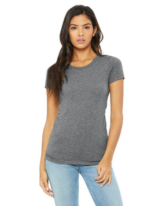 bella + canvas ladies triblend short sleeve t-shirt b8413 grey triblend