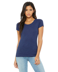 bella + canvas ladies triblend short sleeve t-shirt b8413 navy triblend