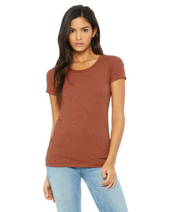 bella + canvas ladies triblend short sleeve t-shirt b8413 clay triblend