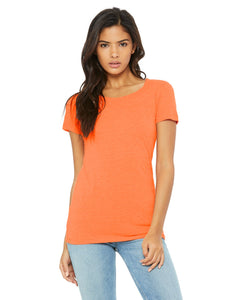 bella + canvas ladies triblend short sleeve t-shirt b8413 orange triblend