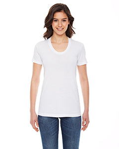 American Apparel Ladies' Poly-Cotton Short-Sleeve Crewneck BB301W WHITE