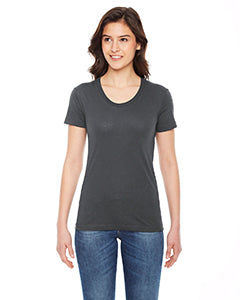 American Apparel Ladies' Poly-Cotton Short-Sleeve Crewneck BB301W ASPHALT