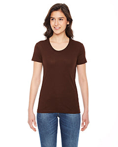 American Apparel Ladies' Poly-Cotton Short-Sleeve Crewneck BB301W BROWN