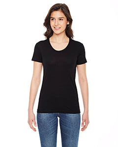 American Apparel Ladies' Poly-Cotton Short-Sleeve Crewneck BB301W BLACK