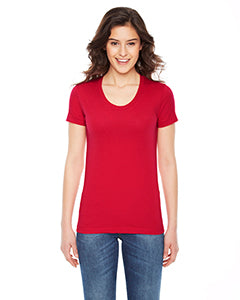 American Apparel Ladies' Poly-Cotton Short-Sleeve Crewneck BB301W RED