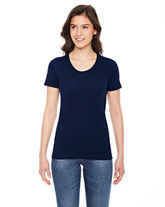 American Apparel Ladies' Poly-Cotton Short-Sleeve Crewneck BB301W NAVY