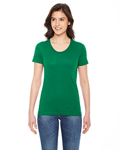 American Apparel Ladies' Poly-Cotton Short-Sleeve Crewneck BB301W KELLY GREEN