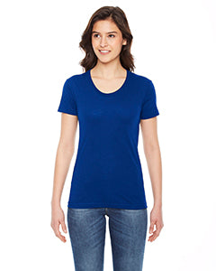 American Apparel Ladies' Poly-Cotton Short-Sleeve Crewneck BB301W LAPIS