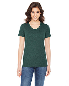 American Apparel Ladies' Poly-Cotton Short-Sleeve Crewneck BB301W HEATHER FOREST