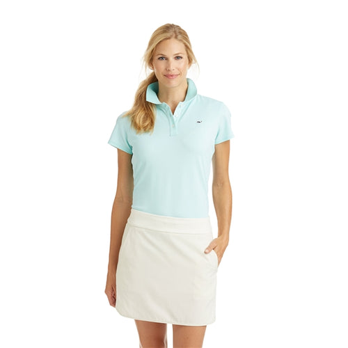 Vineyard Vines Women's Short Sleeve Performance Polo 6K0556 Caicos