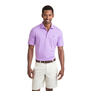 Vineyard Vines Men's Heathered Wilson Stripe Sankaty Performance Polo 1K2202 Sea Urchin