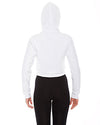 American Apparel Ladies' Cropped Flex Fleece Zip Hoodie F397W WHITE