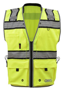 GSS Onyx Class 2 Surveyors Safety Vest 1511 Lime
