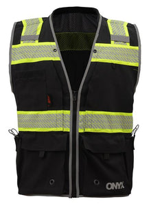 GSS Onyx Class 2 Surveyors Safety Vest 1513 Black