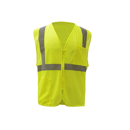 GSS Standard Class 2 Mesh Zipper Safety Vest 1001 Lime