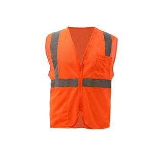 GSS Standard Class 2 Mesh Zipper Safety Vest 1002 Orange