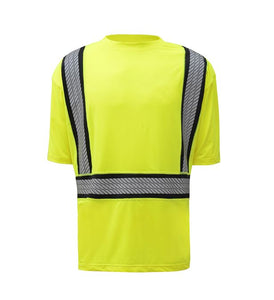GSS Class 2 Onyx Twotone Antisnag T shirt with Segment Tape 5701 Lime