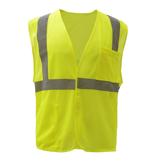 GSS Standard Class 2 Mesh Hook & Loop Safety Vest 1003 Lime
