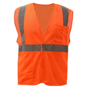 GSS Standard Class 2 Mesh Hook & Loop Safety Vest 1004 Orange